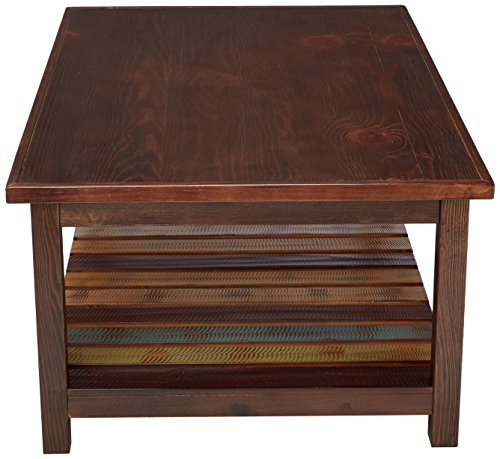 Mestler Coffee Table Signature Design By Ashley Rustic Brown