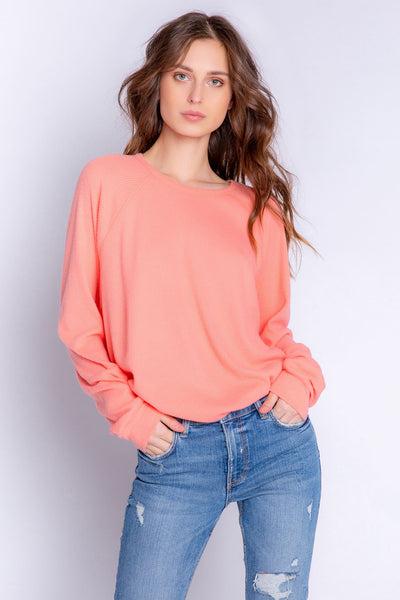 Textured Lounge Sleeve Top (4881845321828)