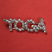 Load image into Gallery viewer, Yoga Rhinestone Jewelry Pin