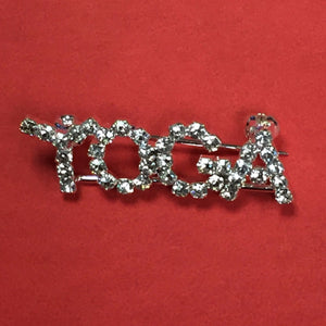 Yoga Rhinestone Jewelry Pin