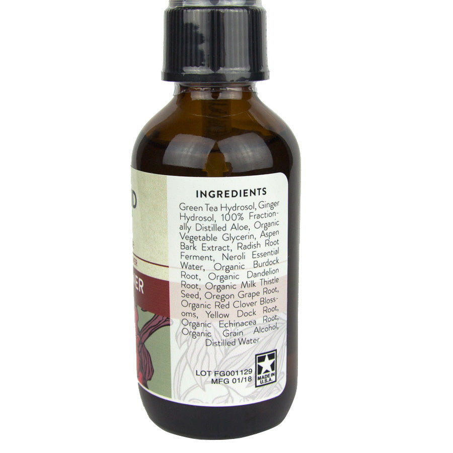 Face Toner 2oz – Aloe & Red Clover