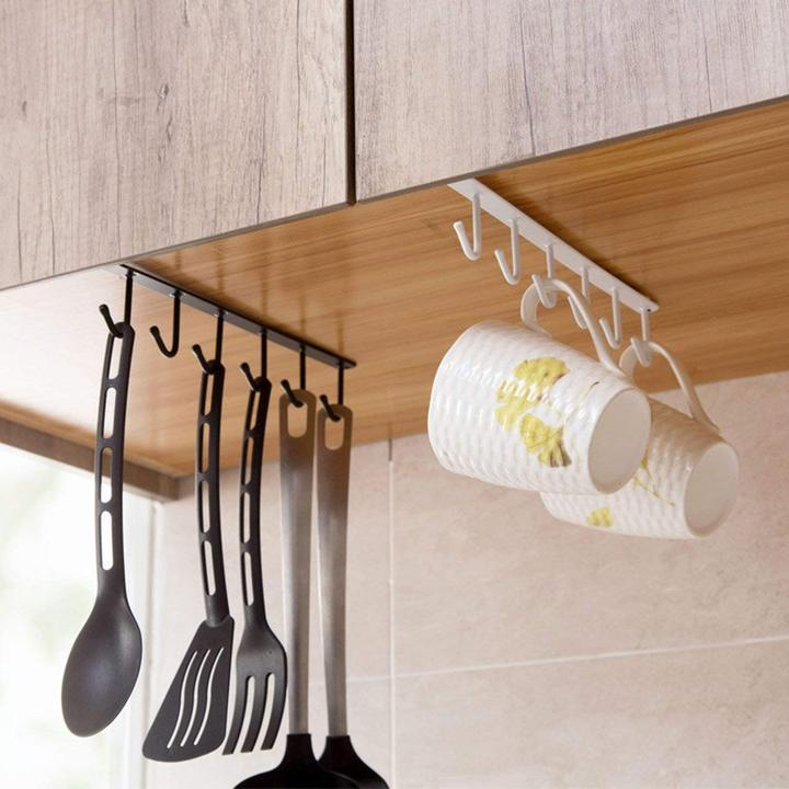 60% OFF TODAY - Under-Cabinet Hanger Rack (6 Hooks)