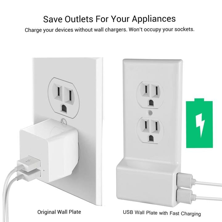 70% OFF TODAY - Smart Power Outlet Cover With USB Ports - Buy 2 Free Shipping