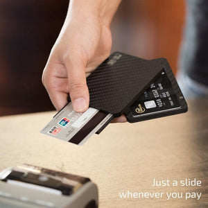 Minimalist Slim Carbon Fiber Modular Card Holder Wallet - BUY 2 FREE SHIPPING
