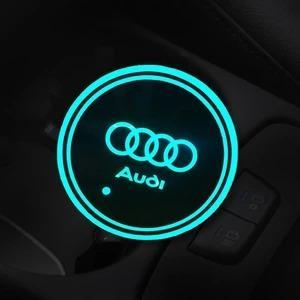 (ONLY $9.99 TODAY) 7 Colors Led Changing USB Charging Car Logo Cup Lights up Holder