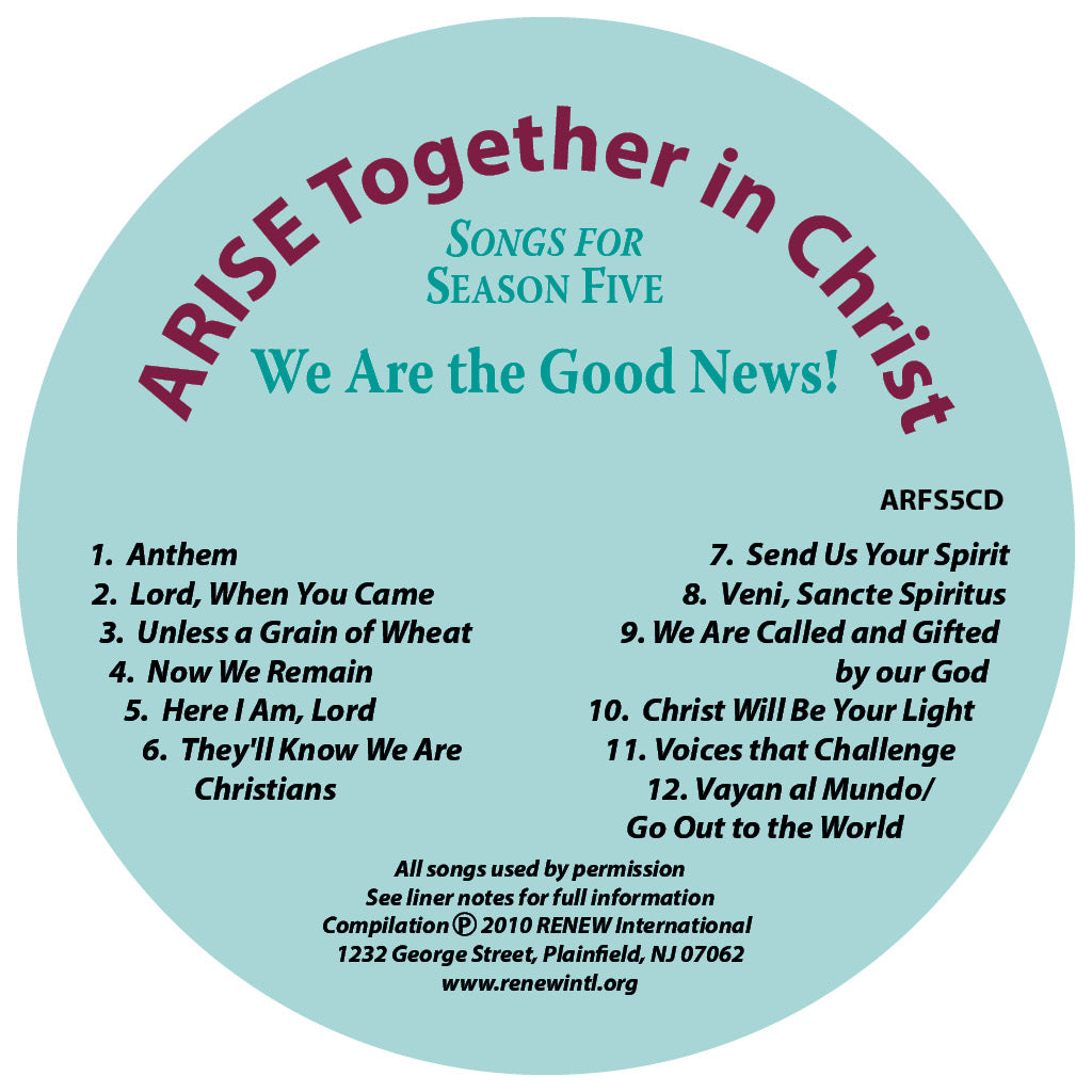 ARISE Season 5: Songs for Season Five CD
