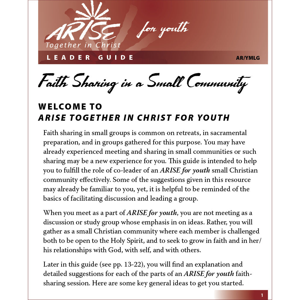 ARISE for Youth Leader Guide