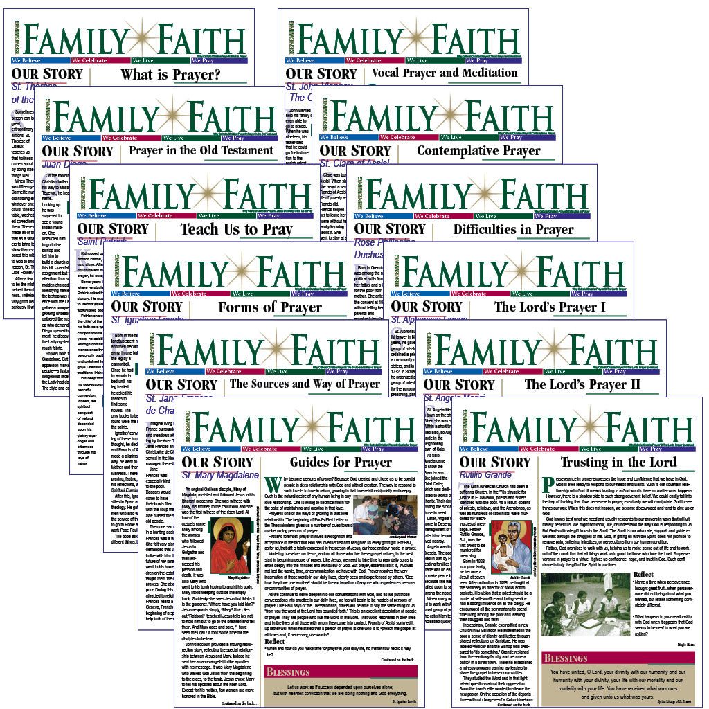RENEWING FAMILY FAITH bulletins: PRAY