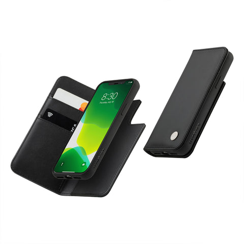 Overture Case with Detachable Magnetic Wallet - Jet Black
