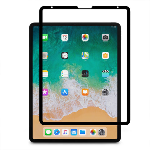 iVisor AG 100% Bubble-free and Washable Screen Protector for iPad Pro 12.9-inch (3rd Gen.) - Black (Clear/Matte)