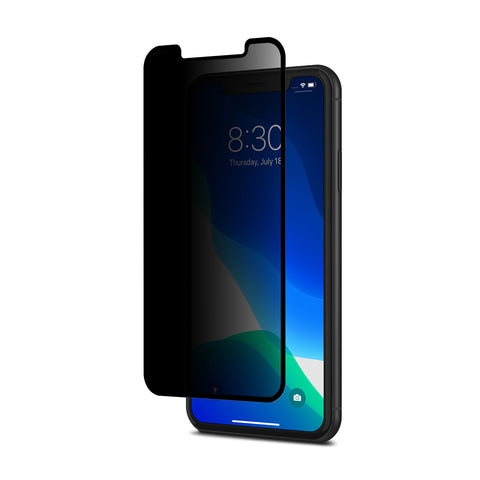 IonGlass Privacy Screen Protector for iPhone 11 /XR - Black (Clear/Glossy)