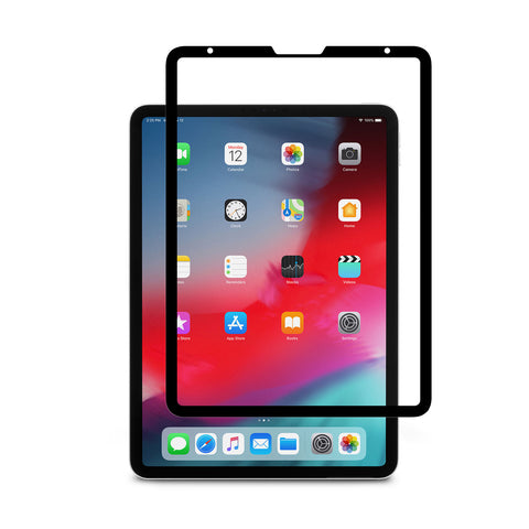 iVisor AG 100% Bubble-free and Washable Screen Protector for iPad Pro 11-inch - Black (Clear/Matte)