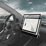 iVisor Screen Protector for Tesla Model 3/ Y's Central Touchscreen, Anti-glare and Reappliable - Black (Clear/Matte)