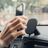 SnapTo™ Magnetic Car Mount with Wireless Charging - Black