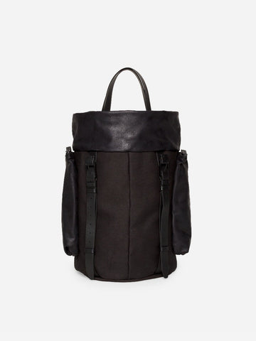 SAAR M CANVAS & LEATHER BLACK