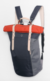 RORI ROLLTOP LAPTOP BACKPACK NAVY & ORANGE