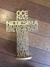 Load image into Gallery viewer, Our Father Prayer Wooden Crosses