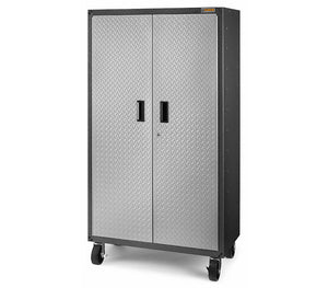 Ready-to-Assemble Mobile Storage Cabinet - Silver Tread