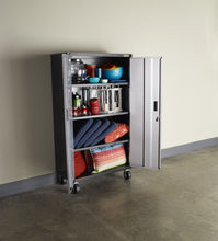Load image into Gallery viewer, Ready-to-Assemble Mobile Storage Cabinet - Silver Tread
