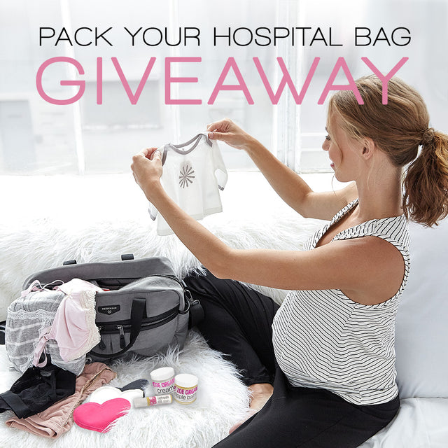 Pack you hospital bag. Enter for a chance to win our hospital bag giveaway for pregnant and nursing moms.