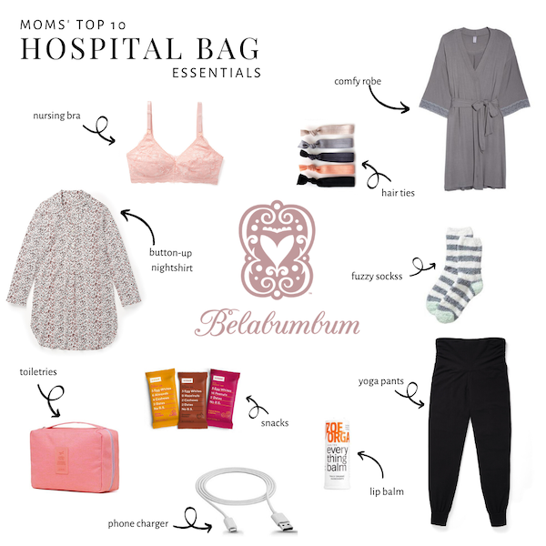 Moms' Top 10 Hospital Bag Essentials
