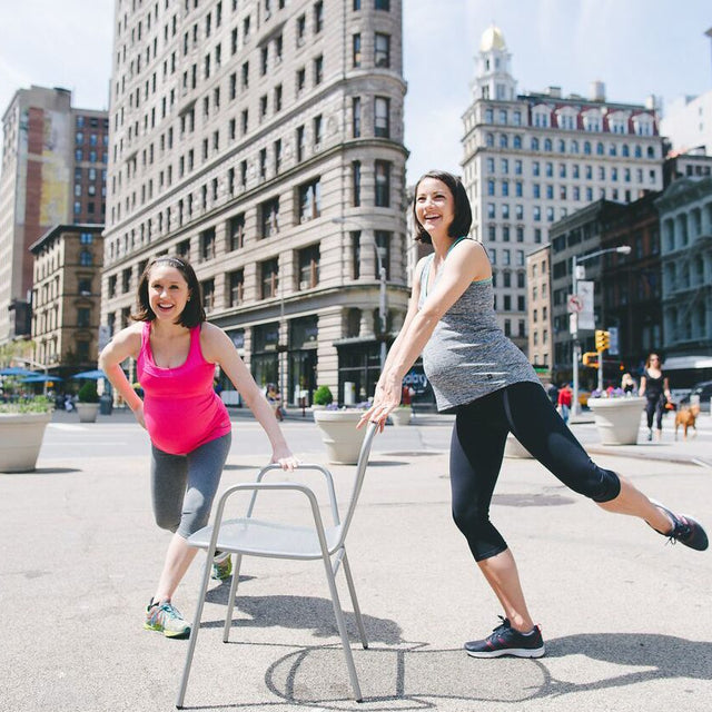 Well Rounded NYC wears Belabumbum maternity athleisure. Well Rounded NYC Belabumbum Active
