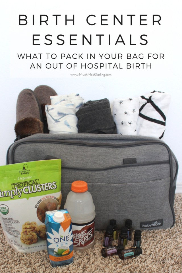 What to pack in your hospital bag or birthing enter.