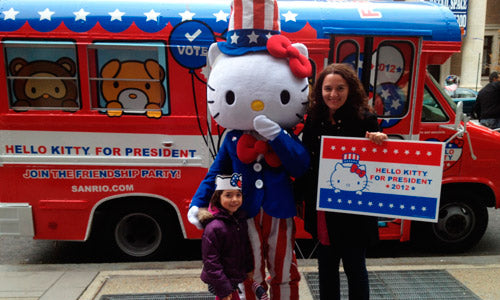 Hello Kitty Gets Out The Vote!