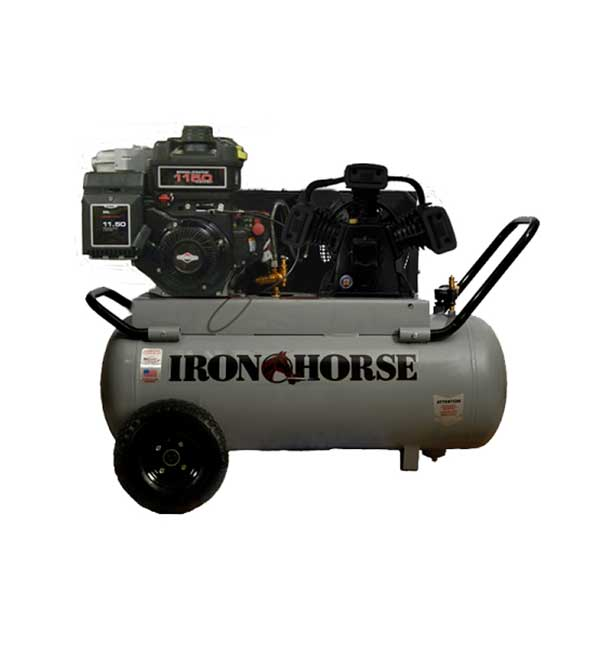 Iron Horse 8-HP 25-Gallon Electric Start Air Compressor