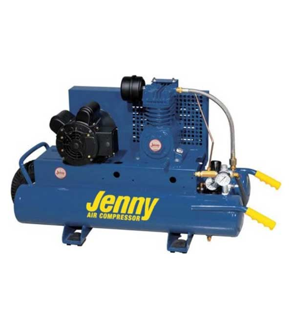 Jenny 1 HP 8 Gallon Electric 115/230 Wheelbarrow Air Compressor K1A-8P