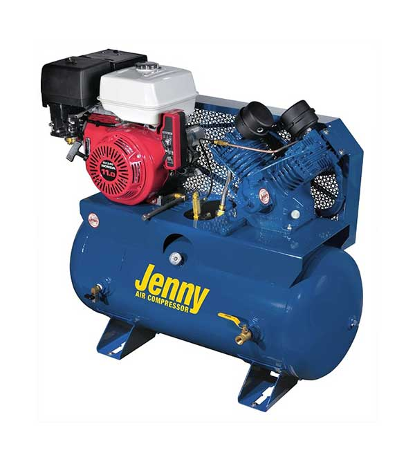 Jenny 11 HP 30 Gallon Two-Stage Truck Mount Air Compressor Honda Engine W11HGB-30T