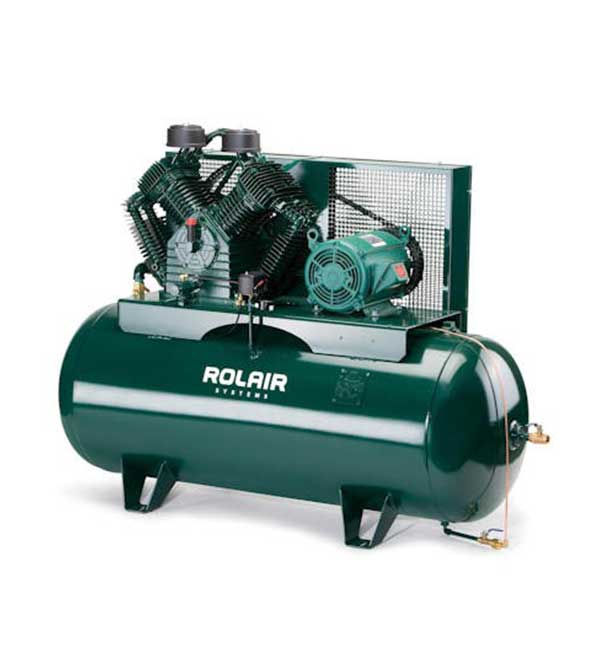 Rolair 10 HP 120 Gallon 3 Phase Horizontal Compressor H10312K60