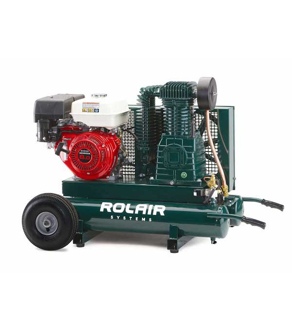 Rolair 9 HP 9 Gallon Gas Portable Air Compressor w/Honda Engine 8422HK30