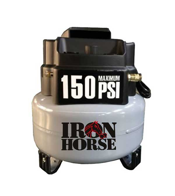 Iron Horse 6 Gallon 2 HP Pancake Compressor