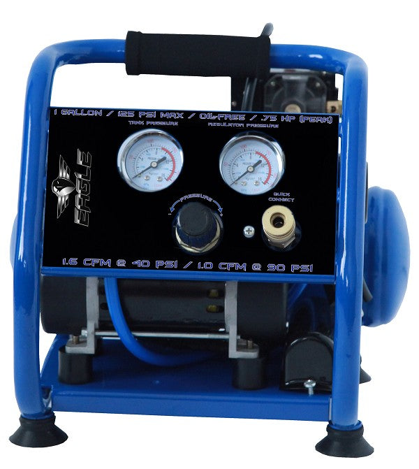 Eagle Silent Series .75 HP 1 Gallon Hot Dog Air Compressor EA 2000