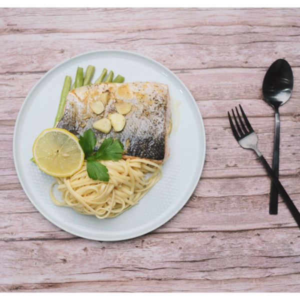 Cook Baked Parchment Miso Salmon with French Beans and Pasta for 2 in 30 minutes with Cookin1 cooking kit in Singapore