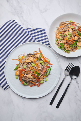 Cook Healthy Asian Salmon Soba Noodle Salad online in Singapore with Cookin1 meal kit with pre-portioned ingredients and easy to follow recipe.