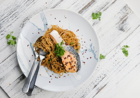 Indonesian Salmon Pasta