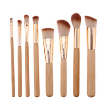 Load image into Gallery viewer, Organic Plant-Based Bamboo Makeup Brushes