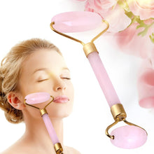 Load image into Gallery viewer, Rose Quartz Crystal Double-head Beauty Roller