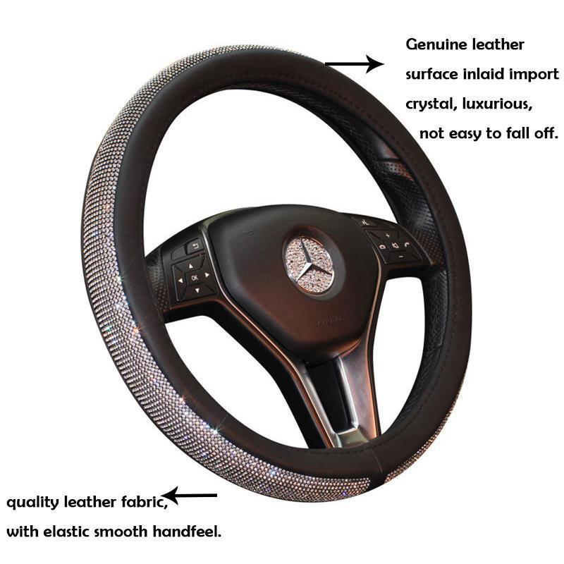 SUPERMI™60%OFF &FREE SHIPPING--CRYSTAL STEERING WHEEL COVER