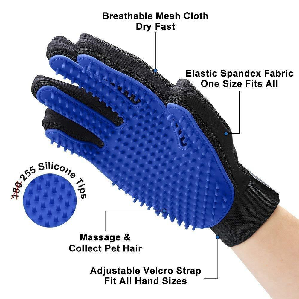 Efficient hair removal gloves