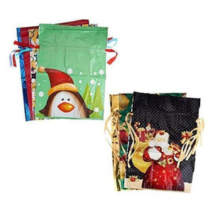 【Non-plastic products】Drawstring Christmas Gift Bags