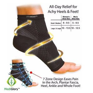 NuFoot™ Copper Infused Magnetic Foot Support Compression - MediGlory