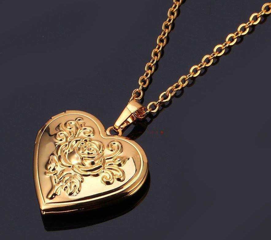 PlutusPH 18k Gold Plated Romantic Heart Locket (with FREE HEART PROJECTION NECKLACE)