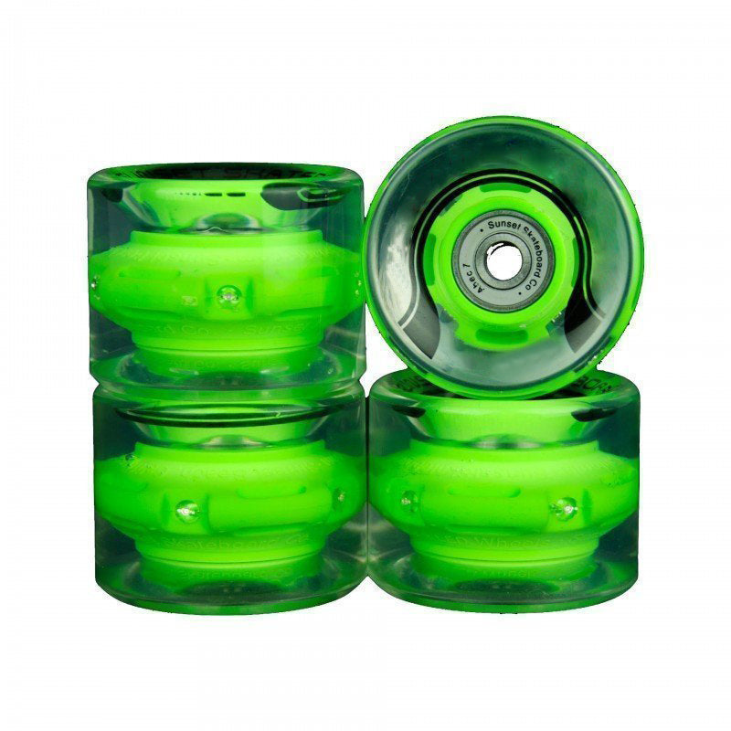 🎉[60% OFF]🎉Last day promotion LED light skateboard wheels(Set of 4 )