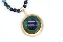 Load image into Gallery viewer, Agate Necklace - Peacock Feather