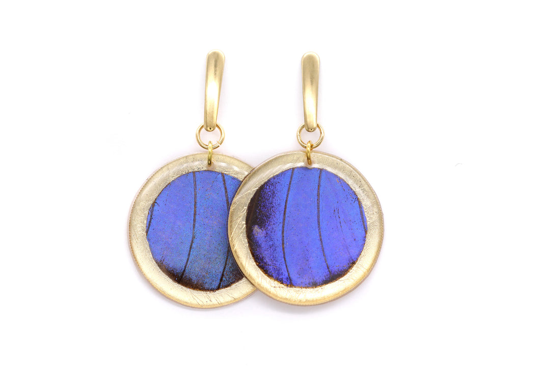 Geometric Gold Morpho Earrings - Circle