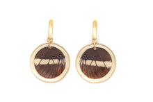 Load image into Gallery viewer, Geometric Gold Siproeta Earrings - Circle