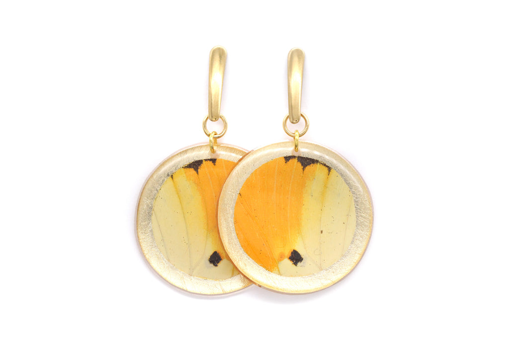 Geometric Menippe Earrings - Gold Circle
